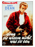Rebel Without a Cause, German Movie Poster, 1955 Kunst