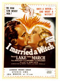 I Married a Witch, UK Movie Poster, 1942 Prints
