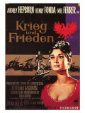 War and Peace, German Movie Poster, 1956 Pôsteres