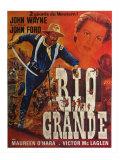 Rio Grande, French Movie Poster, 1950 Premium gicléedruk