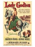 Lady Godiva, 1955 Premium Giclee-trykk