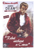 La Fureur de vivre - Rebel Without a Cause : affiche américaine du film de Nicholas Ray avec James Dean, 1955 Poster