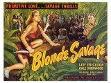 Blonde Savage, 1947 Planscher