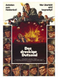 The Dirty Dozen, German Movie Poster, 1967 Pôsteres