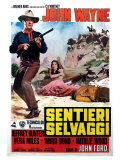 The Searchers, Italian Movie Poster, 1956 Premium Giclee-trykk