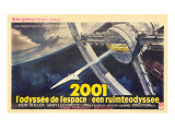 2001: A Space Odyssey, French Movie Poster, 1968 Pôsters