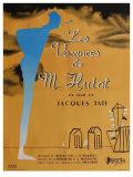 Mr. Hulot's Holiday, French Movie Poster, 1953 Kunstdruck