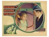 Bureau of Missing Persons, 1933 Prints