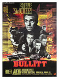 Bullitt, French Movie Poster, 1968 Art