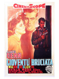 Rebel Without a Cause, Italian Movie Poster, 1955 Planscher