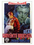 Rebel Without a Cause, Italian Movie Poster, 1955 Affischer