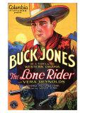 The Lone Rider, 1930 Premium Giclee-trykk