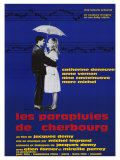 The Umbrellas of Cherbourg, French Movie Poster, 1964 Plakater