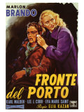 On the Waterfront, Italian Movie Poster, 1954 Art