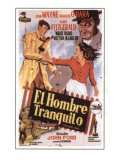 The Quiet Man, Spanish Movie Poster, 1952 Affiches