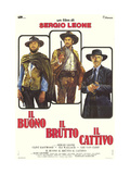 The Good, The Bad and The Ugly, Italian Movie Poster, 1966 Kunstdruck