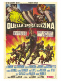 The Dirty Dozen, Italian Movie Poster, 1967 Pôsters