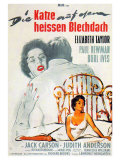 Cat on a Hot Tin Roof, German Movie Poster, 1958 Pôsteres