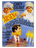 Arsenic and Old Lace, German Movie Poster, 1944 Art