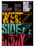 West Side Story, German Movie Poster, 1961 Kunstdruck