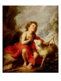 The Infant Saint John the Baptist Giclée-tryk af Bartolome Esteban Murillo