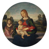 Madonna and Child with the Infant Saint John Giclée-tryk af Raffaellino Del Garbo