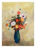 Vilde blomster Giclée-tryk af Odilon Redon