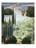 Procession of the Magi: Wall with Emperor John VII Paleologus, detail (Landscape) Giclée-tryk af Benozzo Gozzoli