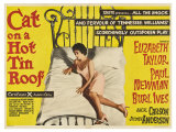 Cat on a Hot Tin Roof, UK Movie Poster, 1958 Arte