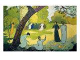 Panels for a Girl's Bedroom: July Reproduction procédé giclée par Maurice Denis