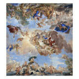 Apotheosis of the Medici Dynasty Reproduction procédé giclée par Luca Giordano