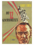 12 Angry Men, German Movie Poster, 1957 高品質プリント