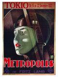 Metrópoles, pôster de filme francês, 1926 Arte