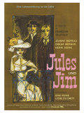 Jules and Jim, German Movie Poster, 1961 Prints
