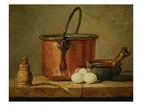 Still Life with Copper Vessel Giclée-Druck von Jean-Baptiste Simeon Chardin