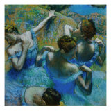 Four Ballerinas Straightening Up in the Wings Giclee-trykk av Edgar Degas