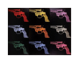 Gun, c.1982 (many/rainbow) Giclee Print by Andy Warhol