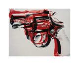 Arma, cerca de 1981-82 (preto e vermelho sobre branco) Impressão giclée por Andy Warhol