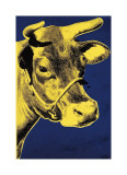 Cow, c.1971 (Blue and Yellow) Giclée-tryk af Andy Warhol
