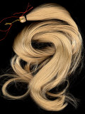 A Lock of Blonde Synthetic Hair Photographic Print by Winfred Evers