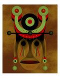 War Mask Gicléedruk van Rich LaPenna