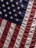 Close-up of the American Flag Reproduction photographique par Paul Damien