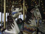 Carousel Horses at Veteran's Park Reproduction photographique par Paul Damien