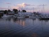 Harbor at Rockland, Maine at Sunset Reproduction photographique par Scott Warren