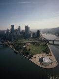 Pittsburgh and the Confluence of the Monongahela and Allegheny Rivers Fotografisk trykk av Lynn Johnson