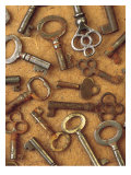 Antique Key Collage Láminas