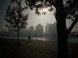 Early Morning in an Erstwhile Traditional Steel Industry Area Fotografisk trykk av Lynn Johnson