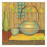 Ginkgo Tea Pot Plakater af Chariklia Zarris