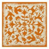 Folk Story in Orange Prints by Chariklia Zarris