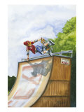 Serious Hangtime Premium Giclee Print by Jay Throckmorton